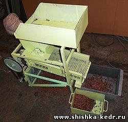Шелушитель (шелушилка, шишкодробилка, лущилка) кедровой шишки МШВ-0.05