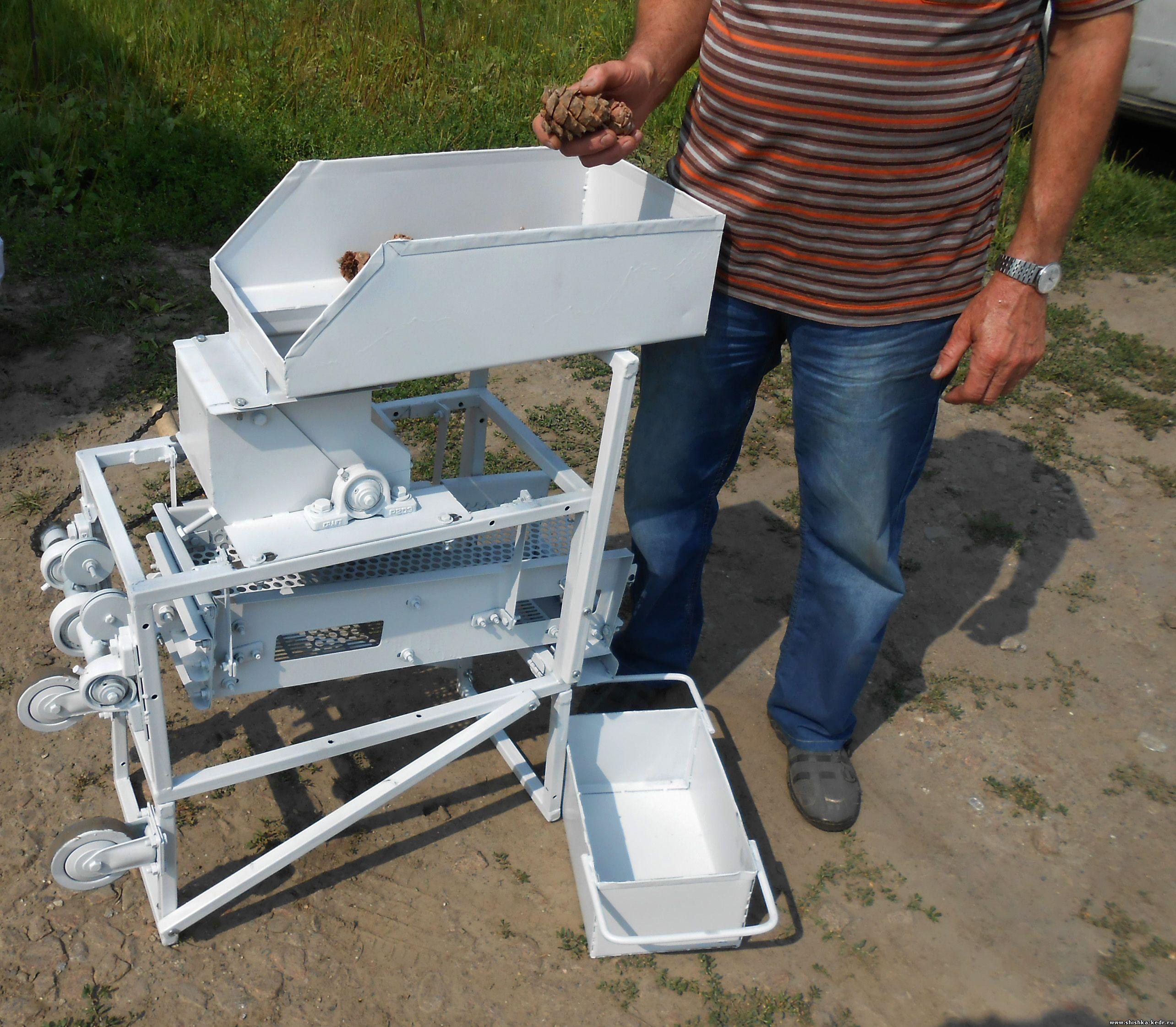 Машинка для переработки кедровой шишки своими руками